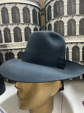 Borsalino Vercelli Wide Brim Men's Fur Felt Fedora Hat Made In Italy Size 7 1/8