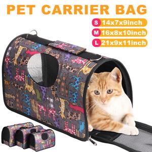 Pet Carrier Bag Portable Cat Dog Comfort Tote Travel Bag Shoulder Backpack