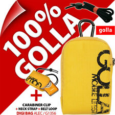 New Golla Universal Compact Digital Camera Case Bag Yellow for Fuji Sony Samsung