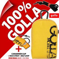 New Golla Universal Compact Digital Camera Case Bag Yellow for Fuji Sony Samsung