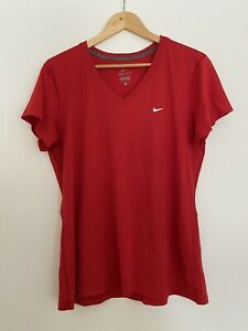 NIKE Size XL RED GYM SHORT SLEEVE TOP