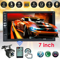 """2 DIN 7""""HD Touch Screen Car Stereo Radio MP5 FM Player with Rear Camera AUX/USB"""
