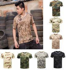 Men's tactical T-shirt camouflage combat T-shirt hunting fishing short sleeve