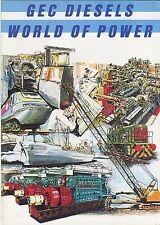 GEC Diesel World of Power brochure original
