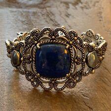 Carolyn Pollack Sterling Silver Vintage Blue Lapis Toggle Bracelet Size Average