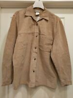 Womens Brown Suede Leather Jacket Coat, Size M Medium , Brand: Coldwater Creek