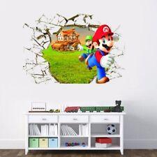 Cartoon 3D SUPER MARIO Mural Vinyl Decal REMOVABLE WALL STICKER Kids Room Decor