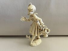 New listing Vintage Depose Italy Figurine Girl with Flower Basket Sweet Romantic Collectible