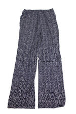 Charter Club New Blue Printed Wide-Leg Soft Pants XS