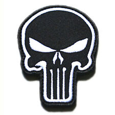 Skull,The Punisher,Patch,Aufnäher,Aufbügler,Badge,Iron On,Badge,Black