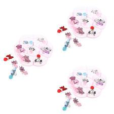 7 Pairs Girls Kids Clip On Earrings Novelty Children Costume Gift