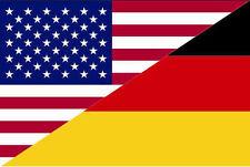Aufkleber USA-Deutschland Flagge Fahne 12 x 8 cm Autoaufkleber Sticker