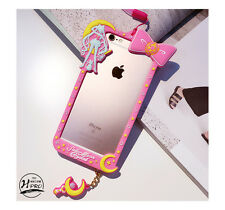 Cartoon Cute Bow Frame Sailor Moon Soft Gel Case Cover for iPhone 6 6S 7 Plus