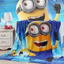 "Disney Despicable Me Minions Big Plush Soft Flannel Blanket Throw 60"" X 80"""