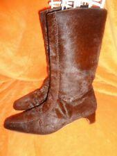 MARNI, Vintage, Brown Pony Hair Mid-Calf, Low-Heeled Boots, Size 8.5 US, 40 EU?