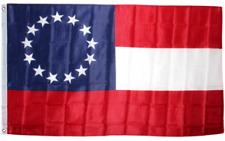 13 Star 1st National Stars & Bars CSA Civil War Flag 3x5 ft Print Polyester
