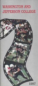 1987 Washington & Jefferson Presidents Football Media Guide HC John Luckhardt