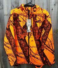 Scent Control Mossy Oak Blaze Camo WATERPROOF Hunting Jacket with Hood - LARGE