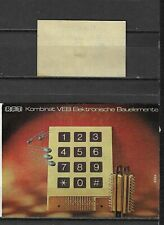 MATCHBOX LABELS- GERMANY. RFT electronic house devices, packet size label, Riesa