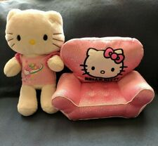 BUILD A BEAR Hello Kitty w/ Sparkly Pink Chair Plush Stuffed Animal EUC RESCUE