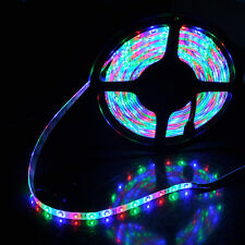 3528 5m 500cm RGB 300 LED SMD Flexible Light Strip Lamp Waterproof DC 12V Car