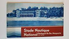 Vintage travel brochure National Nautical Stadium Margaret Island Hungary 1930s