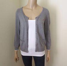 Hollister Womens Cardigan Size Large Sweater Gray