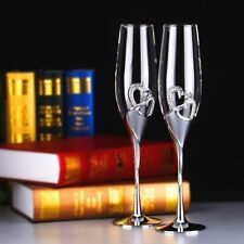 Crystal Wedding Toasting Champagne Flutes Glasses Cup Wedding Party Marriage On