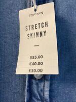 Bargain Brand New Top Man Skinny Fit Denim Shirt Good Quality RRP£30