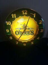 New listing (Vtg) 1991 odouls beer back bar light up clock anheuser Busch Bud mib