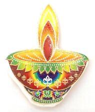 Fondo de oro tradicional Swastik en naranja Pegatina adhesiva de papel religioso