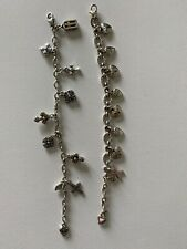 Brighton Charm Bracelet Eternity Cross & Breast Cancer Think Pink Lot Silver