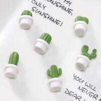 6pcs/Set Mini Fridge Magnets Succulent Cactus Plant Magnet Button Sticker Deco