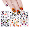 24sheets Halloween 3D Nail Art Stickers  Adhesive Transfer Decals Decor Cute