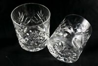 Pair of Stunning English Vintage Royal Doulton Lead Crystal Whisky glass rummer