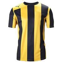 Puma Men's Football Team Shirt Black & Yellow Stripes (S & XXL)