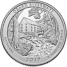2017 - OZARK NATIONAL SCENIC RIVERWAYS - BU MINT QUARTERS - 2 COIN SET  -  P D