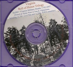 Virginia Roll of Honor Trilogy - Miltary War Deaths