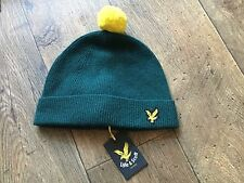 Lyle And Scott, Green Bobble Hat, Beanie, New With Tags