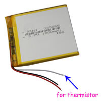 3.7V 1800mAh Polymer Lipo battery 3 wire thermistor For Tablet PC GPS 335865