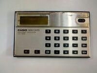 CALCOLATRICE ELETTRONICA VINTAGE MINI CARD ELECTRONIC CALCULATOR CASIO LC- 78 G