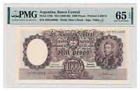 ARGENTINA banknote 1000 Pesos 1966 PMG MS 65 EPQ Gem Uncirculated