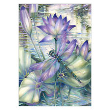 Flower Dragonfly 5D Full Drill Diamond Painting Embroidery Cross Stitch Decor B2