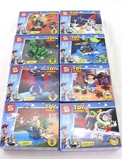 8 PCS-Toy Story Building Blocks Model Brick Toy Set (Woody, Buzz Lightyear)