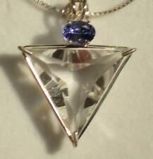Clear Quartz Angelic Star Pendant with Tanzanite j3025