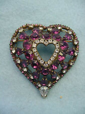 Vintage Dorothy Bauer   Heart Pin