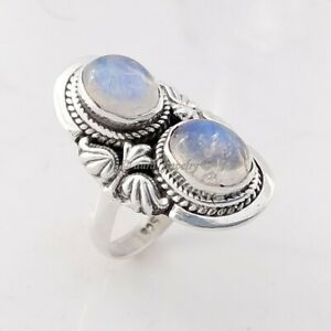 Rainbow Moonstone Handmade 925 Sterling Silver Ring Jewelry - ANY SIZE 4 TO 10