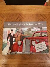1939  PACKARD  SIX  AND  120  SALES  BROCHURE  ORIGINAL