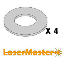 1mm & 2mm Stainless Steel washers 35mm OD x 25mm ID - 2 of Each Thickness