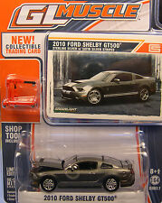 STERLING SILVER 2010 SHELBY GT500 GREENLIGHT 1:64 SCALE DIECAST METAL MODEL CAR